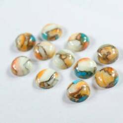 Natural Oyster Copper Turquoise Round Cabochon Loose Gemstones 21mm To 25mm