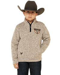 Cowboy Hardware Boysand039 Oatmeal Marled Tough Pullover - 373151-060