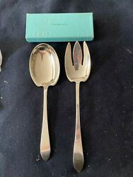 And Co. Faneuil Large Salad Set 10 1/2 Fork And 9 1/2 Spoon No Monograms