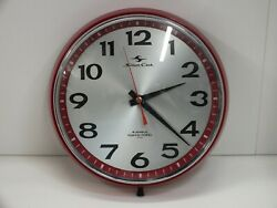 Rare Tokyo Tokei Silicon Clock 4 Jewels Wall Clock Red And Chrome Japan