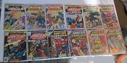 Marvel Tomb Of Dracula Vintage Comic Book Lot 12 Issues 1970's Giant Size Horror