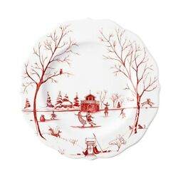 Juliska Country Estate Winter Frolic The Claus Christmas Day Ruby Salad Set/4