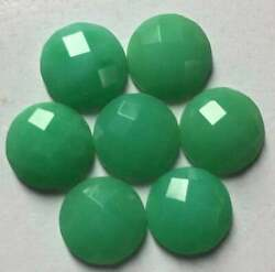 Natural Chrysoprase Round Checker Cut Loose Gemstone Size 16mm To 18mm Aaa Lot