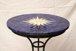 24 Random Lapis Lazuli Marble Coffee Table Top Mother Of Pearl Inlay Design