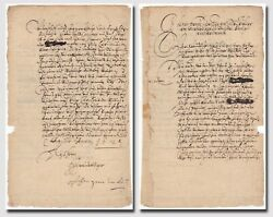 Tilly, Johann Tserclaes Count Of 1559-1632/ Thirty Years War - Letter Signed