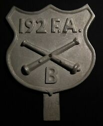 Vintage 6 192nd Field Artillery License Plate Topper Connecticut National Guard