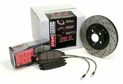 Stoptech 979.34030f Front Sportstop Drilled Brake Kit For 1997-1999 Bmw 5-series