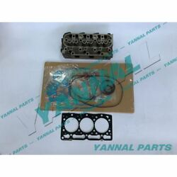 New Kubota D1105 Complete Cylinder Head And Full Gasket Kit