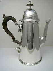 Black Starr And Gorham Sterling Silver Coffee Pot Sterling Hot Water Jug Ca1940and039s
