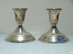 Vintage Pair Of Towle Sterling Silver Weighted Candleholders - 512