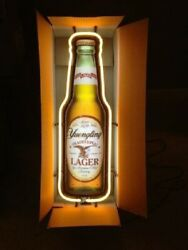 Yuengling Traditional Lager Beer Bottle Neon Lamp Light Sign 24x6 Real Glass