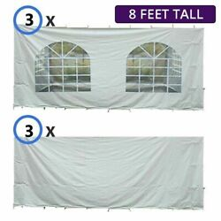 8'h 30x30 Tent Sidewall Kit Solid And Cathedral Window Block-out 16 Oz Vinyl Panel