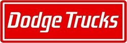 Dodge Trucks Marquee Style Sign, 12 X 36 Usa Steel Xl Size - 4 Pounds