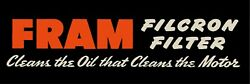 Fram Oil Filters Marquee Style Sign, 12 X 36 Usa Steel Xl Size - 4 Pounds