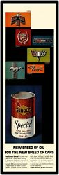 Sunoco Special Motor Oil Sign 12 X 36 Usa Steel Xl Size - 4 Pounds