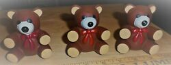 Vintage Rubber 3 Brown Bears Ross Laboratories 1985 Squeaky Squeaker Toy