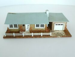 Ho Or O Scale Model Train Layout Ranch Style Custom Lighted House Building