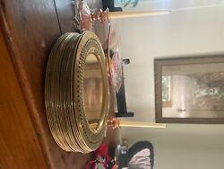 Rare Brass Antique, Made In India 1930, Collectibles. Charger Plates