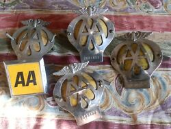 Small Collection Of 5 Aa Car Badges Automobile Association Club Mascots