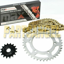 New Gold Drive Chain And Sprockets Kit For Yamaha Honda Motorcycle Pit Dirt Bike