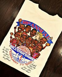 All Star Game Chicago Caricature Short Sleeve White Unisex S-234xl T-shirt W226
