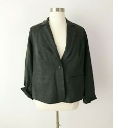 41 Hawthorn Stitch Fix Gray Knit Blazer Fully Lined Career One Button Size 1x