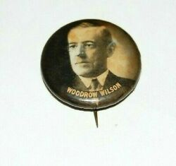 1912 Woodrow Wilson 1 Presidential Campaign Pin Badge Pinback Button Political
