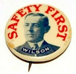 1912 Woodrow Wilson 7/8 Campaign Pin Pinback Button Badge Political Presidential
