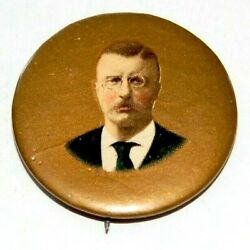 1904 Teddy Roosevelt 1.25 Theodore Campaign Pin Pinback Button Badge Political