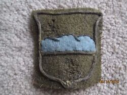 Wwi Us Army 80th Division Blue Ridge Patch Wool Aef