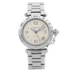 Pasha Gmt Stainless Steel Silver Dial Automatic Unisex Watch W31029m7