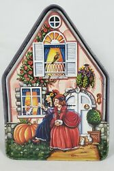Silver Crane 1996 Fairy Tale Cottages Cinderella House Tin Box Container Collect