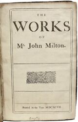 The Works Of Mr. John Milton - The First Collected Edition - 1697