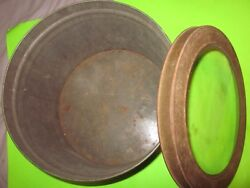 Vintage Rare Merchantile/hardware Store Seed Display Metal Can W/glass In Lid