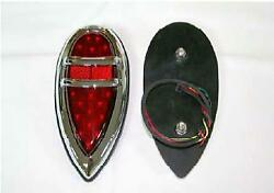 1938-1939 Ford Lincoln Vintage Style Led Tail Light With 21 Led,s And Rapid Fire