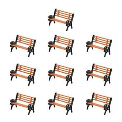 20pcs Chair Park Seat For Garden Ho N O Scale Railway Railroad Train Layout Toy