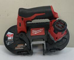 Pre Owned-milwaukee M12 Li-ion Cordless Sub-compact Band Saw Tool-only 2429-20
