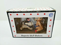 Betty Boop And Pudgy Dog Kiss Salt And Pepper Shakers Set Magnetic
