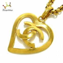 Necklace Coco Mark Metal Material Gold Heart20210520
