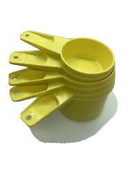 Vintage Yellow Tupperware Measuring Cups Set Of 5 Usa