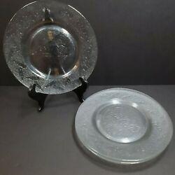 4 Coca Cola 8 Clear Glass Bottle Embossed Collectors Salad Plate