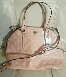 Coach Bag Blush Pink Patent Leather Cora Domed Satchel F25705 MSRP $348 $89.00