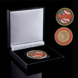 Usa Challenge Coin Color 911 Attack Honor Courage Commitment Metal Bronze Coin