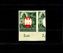 Generalgouvernement Gg Test Print Michel Number 105p, Unused, Coat Of Arms