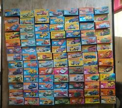 Job Lot Of 68+ Matchbox Cars,boxed,dated From 70`s-80`s,superfast,1-75 Series