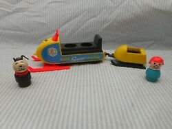 Fisher Price Little People Snowmobile 705 With Dog And Girl Lot36