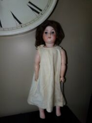 Antique 1894 Armand Marseille Majestic Dolly Face Bisque And Composition Doll 27