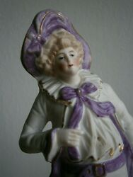 Figurine Statue Porcelain Biscuit Mens Character 18anddeg Th Costume Violet Fashion