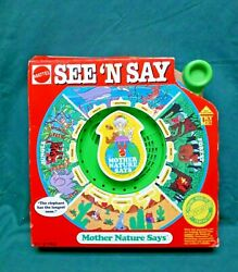 1990 Mattel See Nand039 Say Mother Nature Says Vintage New In Package