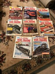 Classic Toy Trains Magazine - Lot Of 8 1998-1992 For Model Collector And Operator
